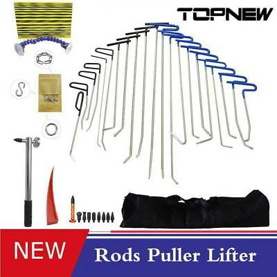 Paintless Push Rods Whale Tails Dent Puller Hammer Tools Car Ding Repair kit