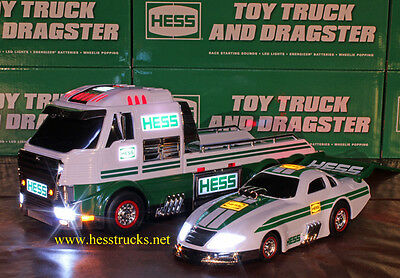 2016 Hess Truck and Dragster = 100% Mint-in-Box = Brand New!