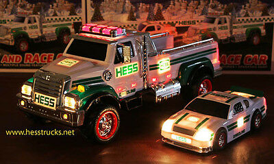 2011 Hess Truck and Race Car   -  Case Fresh - 100% MIB