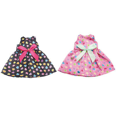 2Pcs Doll Outfit Skirt Dress Clothes for 14 inch American Girl Doll Skirt