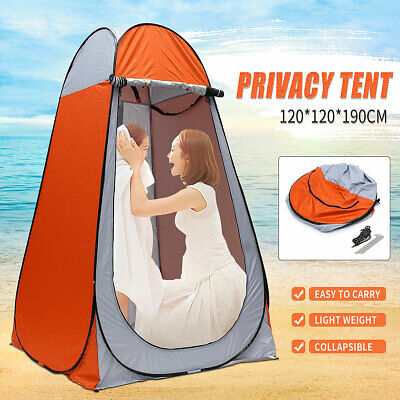 Foldable Portable Outdoor Camping Toilet Pop Up Beach Shower Tent Shelter AU