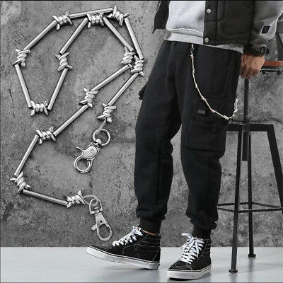 Rock Punk Metal Pants KeyChain Wallet Chain Belt Hip Hop Jewelry Key Chains Hot