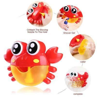 Baby Kids Bath Bubble Crab Machine Bubble Musical Maker Shower Tub Funny Toys