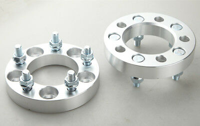 """UK 2pc 25mm Thick 1"""" Inch 5x4.5"""" 5x114.3mm Wheel Spacers Adapters 12x1.5 Studs"""