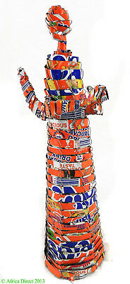 Angel Soda Cans Sculpture Fanta Orange South African Art SALE WAS $25
