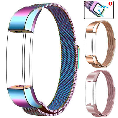 Magnetic Milanese Loop Strap Watch Band For Fitbit Charge 2/3 Alta HR/Versa Band