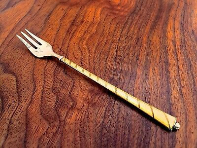 Egon Lauridsen Danish Sterling Silver and Enamel Hors d'Oeuvres Fork