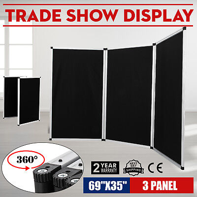 70.8 X 35 Folding 3 Panels Trade Show Display Booth Screen Backdrop Velcro ON