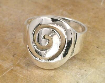 STUNNING .925 STERLING SILVER LARGE CELTIC SWIRL RING size 6 style# r0919