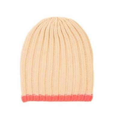 Cotton On Kids Toddlers Girl Accessories Peach Colour Beanie One Size Stripe New