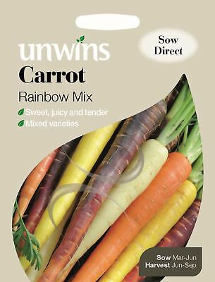 Unwins Pictorial Packet - Vegetable - Carrot Rainbow Mix - 200 Seeds