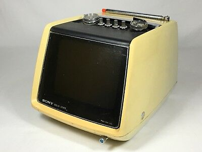 Vintage Rare Solid State Sony TV-750 Portable Electronic TV 1970's Model