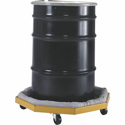 Valley Craft 1000Lb -Cap -Drum Dolly w/Absorbent Collar-For Drums 22-28in -ia.