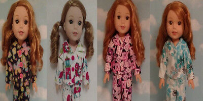 Doll Clothes Pajamas Fits 14.5 inch American Girl Wellie Wishers Doll 266abcd