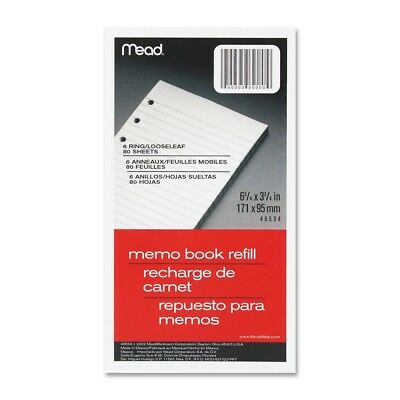 "Mead Memo Book Refill Pages3""x5"" 80shts,MEA46530"
