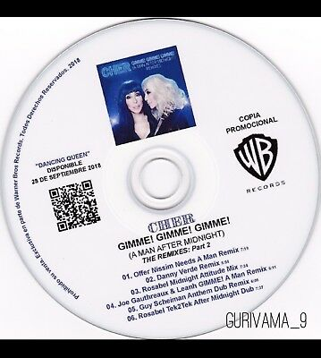White CD Sleeve with free Cher GIMME! GIMME! (Remixes part 2)