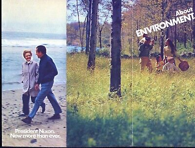 1972 Committee to Re-Elect President Richard Nixon Brochure About Environment