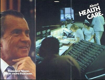 1972 Committee to Re-Elect President Richard Nixon Brochure About Health Care