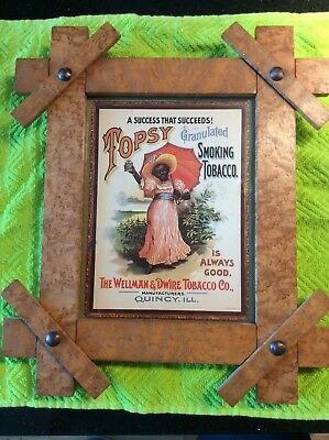 Antique Advertising Print Ad Wellman Dwire Topsy Smoking Tobacco Birdseye Maple