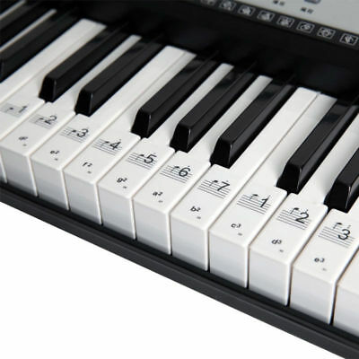 54/61/88 Key Music Keyboard Piano Stickers Set Removable Note Labels Modern