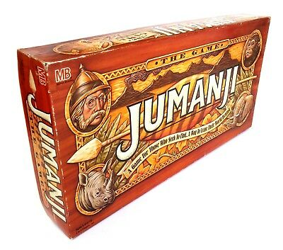 Jumanji Board Game (1995) Milton Bradley-The Game that Pursues You! Complete