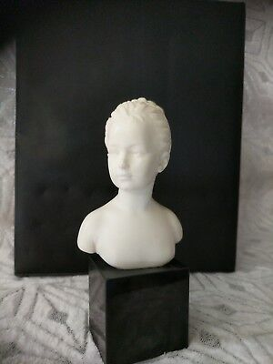 "6"" (Alabaster?) Houdon Bust Of Louise Brongniart Made In France"