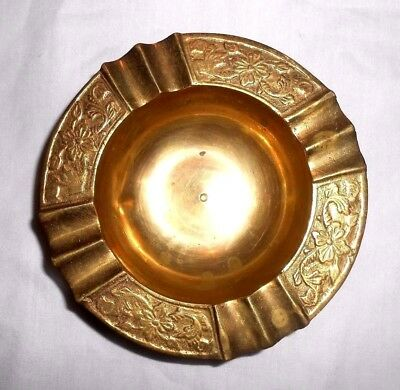 Solid Brass Small Ashtray Ash Tray Decorative Round Made In India