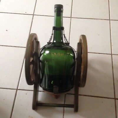 Cannnon Stand With VSOP Cognac Bottle, Great Nick., Used
