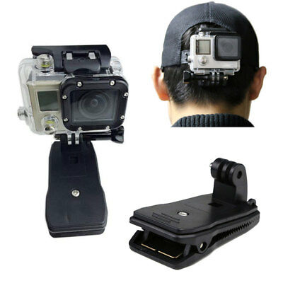 360° Rotary Backpack Hat Belt Clip Fast Clamp Mount for Gopro Hero 5 4 3+ Camera