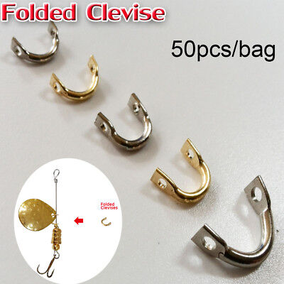 50PCS/Bag Easy-Spin Clevises Spinner Easy Spin Brass Fishing Lures Accessories~