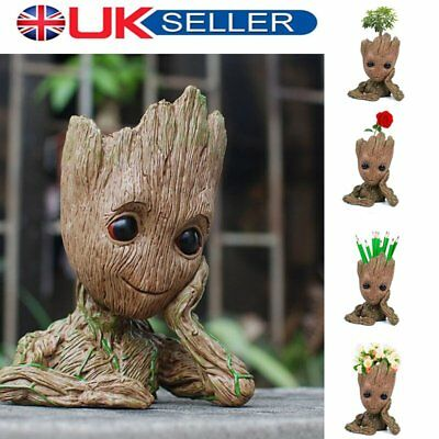 Guardians of The Galaxy Baby Groot Figure Flowerpot Style Pen Pot Toy UK Stock