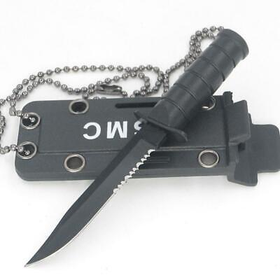 Portable Necklace Blade Fruit Knife Camp Hunt Survive Pocket Self-Defense Super