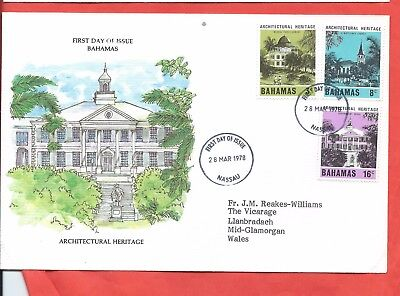 Bahamas stamps. 1978 Architectural Heritage FDC (A503)