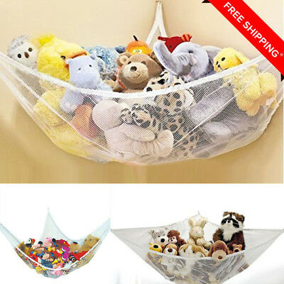 Large Soft Toy Hammock Mesh Net Teddy Bear Storage Baby Child Bedroom Tidy New