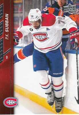 2015/16 Upper   Deck   Series   One   Base   P   K   Subban  Canadiens   102