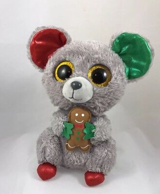 Ty Mac Christmas Mouse 6 Beanie Boos New Mint Tag Super Cute In 745828d887af