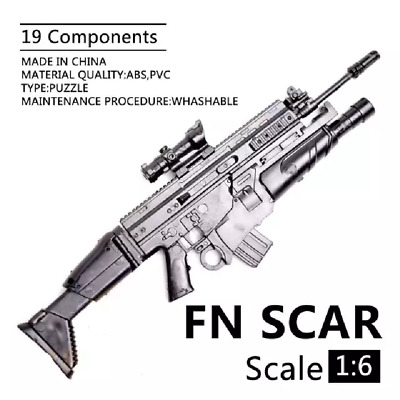 1:6 1/6 Scale 12 inch Action Figures Rifle FN SCAR Model Gun Toy Use For 1/100 M