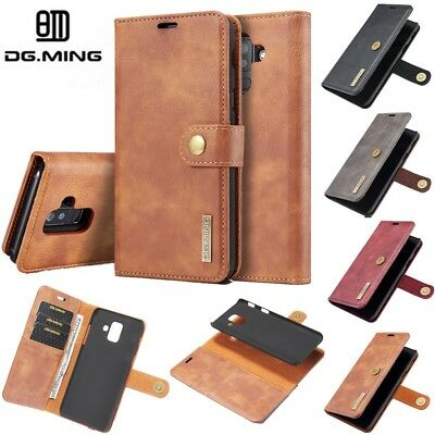 For Samsung Galaxy A6 A7 A8 A9 2018 Removable Leather Magnetic Wallet Case Cover