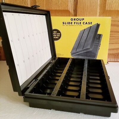 AIREQUIPT Group Slide File Case Holds 600 2x2 Slides For 35mm Instamatic & 127