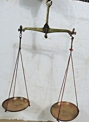 Antique Apothecary Scale Hand balance pharma CLASS B WEIGH 100 gram BRASS TARAJU
