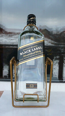 Johnnie Walker bottle 3 liter whisky used Black Label EMPTY gold swing cradle