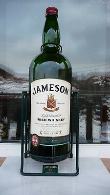 Johnnie Walker large bottle 4.5 liter Jameson Irish whiskey EMPTY swing cradle