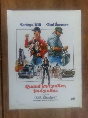 Plaquette QUAND FAUT Y ALLER, FAUT Y ALLER. terence HILL bud SPENCER *