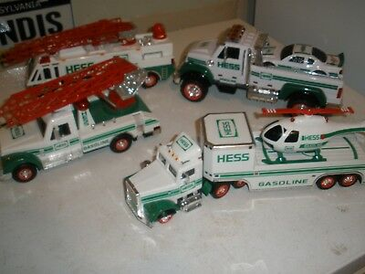 Lot of 4 Never Played with Hess Trucks No boxes 1994, 1995, 1996, 2011