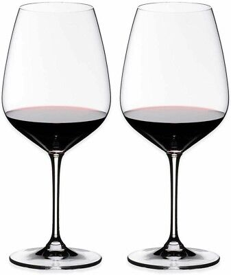 Riedel Premium Heart to Heart Crystal Cabernet Sauvignon Wine Glass Set of 2 NEW