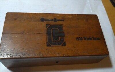 Baseball 1920 World Series title Cleveland Indians wooden box