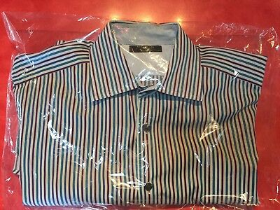 9f2c5d0c48a44 MENS TED BAKER Archive Striped Plaid Accents French Cuff Button Down ...