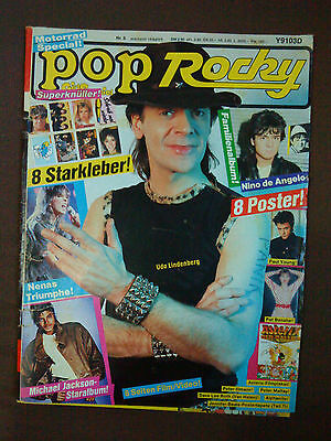 Pop Rocky April 1984 8/84 Udo Lindenberg Nena Jackson Lauper Angelo Asterix gut