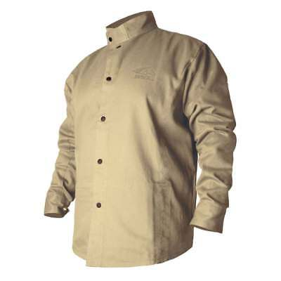 Black Stallion BXTN9C BSX Flame-Resistant Cotton Welding Jacket, Khaki, 4X-Large