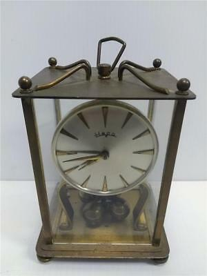 Vintage Heco *Henry Coehler* West Germany Brass Anniversary Mantel Clock